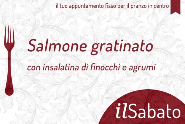 salmone gratinato con insalatina di finocchi e agrumi